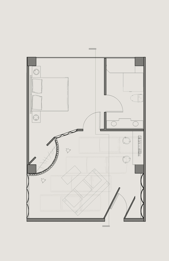 scaled plan drawing for the room