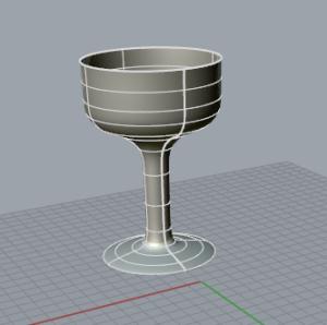 Capture wine glass