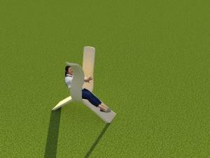 Render yoga chair