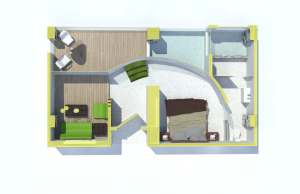 guestroom planview render