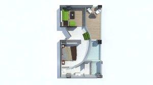 guestroom topview render