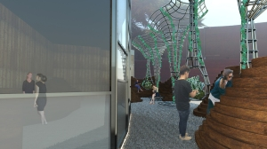 interior garden from front
