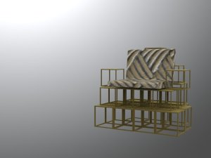 rendered environmental chair